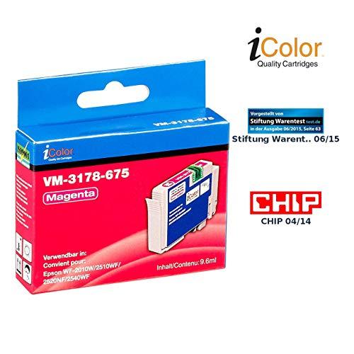 iColor Tinte für Drucker, Epson: Patrone für Epson (ersetzt T1631 T1632 T1633 T1634 / 16XL), Magenta (kompatible Tintenpatronen für Tintenstrahldrucker, Epson)