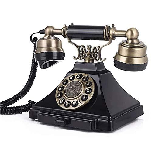 ZARTPMO Teléfono Fijo Teléfono Fijo Oficina En Casa Retro Europea Botón De Escritorio Dial Teléfono Fijo Fijo