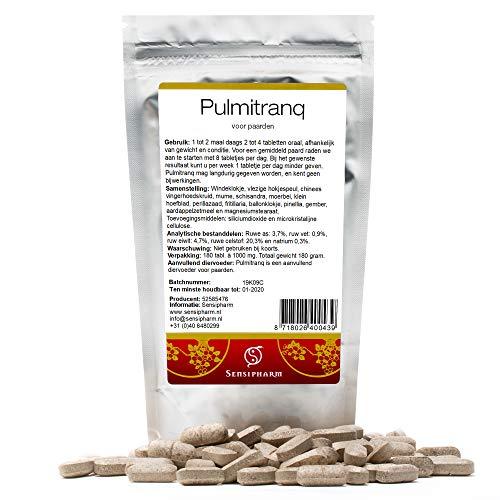 Sensipharm Pulmitranq für Pferde 180 Tabletten - Nahrungsergänzungsmittel für Lunge und Atemwege