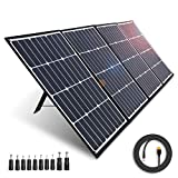 AIPER Portable Solar Panel 160W for Suaoki/Jackery/Goal Zero Yeti/Rockpals/Paxcess Portable Power Station as Solar Generator, Portable Foldable Solar Charger with USB Ports for Summer Camping Van RV