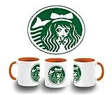 MERCHANDMANIA Tasse Logo Anime CAFÉ Farbe Mug S orange