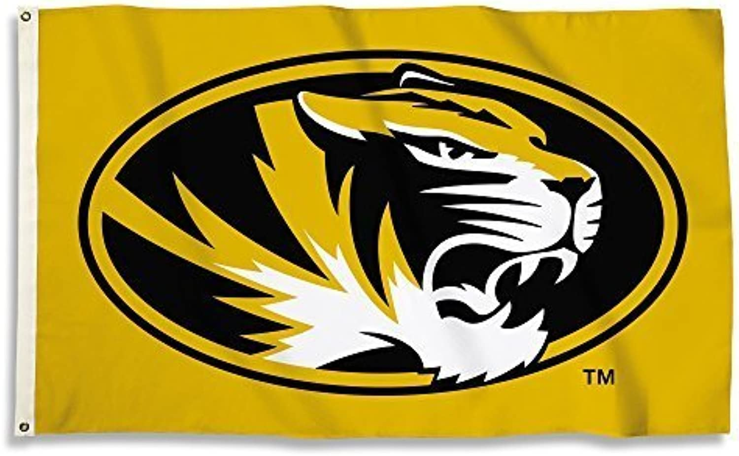 NCAA Missouri Tigers 3 x 5-Feet Flag with Grommets, Team Farbe, One Größe by BSI