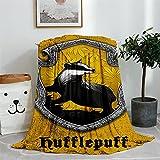 LHLMM Manta de forro polar gruesa de Harry Potter, cómoda manta...
