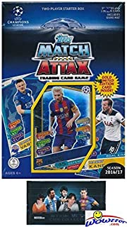 2016/2017 Topps Match Attax Champions League Soccer Starter Box with 39 Cards Including EXCLUSIVE GOLD Limited Edition Lionel Messi & 2 Goalkeeper Cards! PLUS Game Mat & Rules with BONUS Messi Pack!