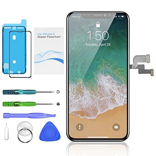 Htechy Kompatibel mit iPhone X Display Ersatz Bildschirm- 5.8