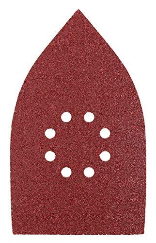 Preisvergleich Produktbild kwb Schleif-Dreieck für Delta- u. Multi-Schleifer - für Metall,  Holz,  Lack u. v. m.,  für u. a. Black u. Decker,  Ferm,  Worx Multi-Schleifer B-&-D ,  107 x 175 mm,  Korn K-40,  5 Stk.,  gelocht