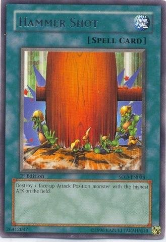 Yu-Gi-Oh! - Hammer Shot (SOD-EN038) - Soul of The Duelist - 1st Edition - Rare
