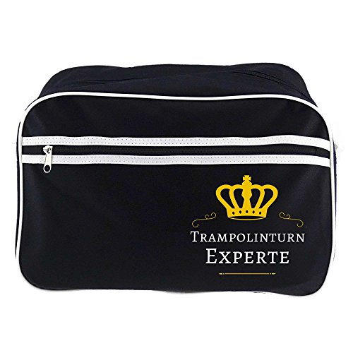 Retro-tas trampoline expert zwart
