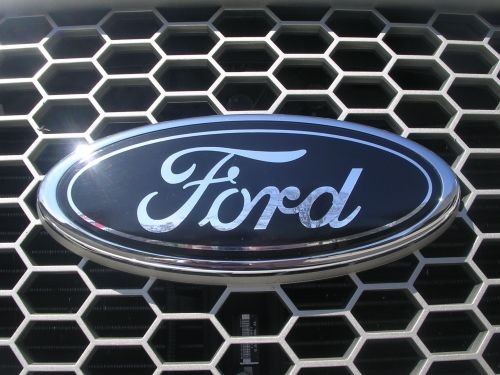 "AutoPartsBestBuy 2005-2014 Ford F150 Dark Blue Oval 9"" X 3.5"" Front Grille Replacement Badge Emblem Medallion Name Plate"