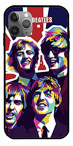 Black 60s Phone Music Case Fans Cover Wall Gift Card The Beatles Poster Abbey Road Home Decor Compatibile con iPhone 12/12 Pro Max 11 Pro Max XR All iphone Huawei Series Case