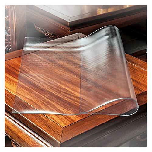 ASPZQ Protector Transparente para Mesas 1,5/2,0/3,0 Mm Silla Alfombrilla PVC para Piso Madera Dura Alfombra de Plástico Antideslizante Resistente A Rayones (Color : 2.0mm, Size : 40 x 60 m)