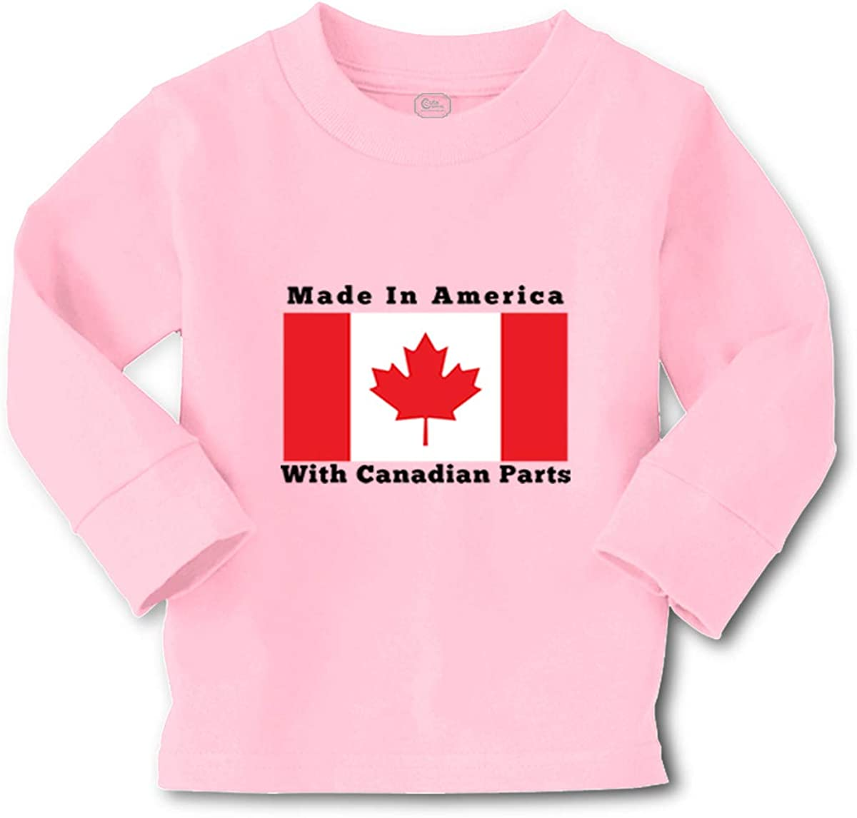 Custom Kids Long Sleeve T Shirt Made in America with Canadian Parts Style B