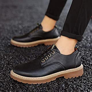 Autumn New Men's Shoes British Wind Retro Tooling Shoes Casual Shoes Men's Martin Boots (Color : 1808Black, Size : 42)