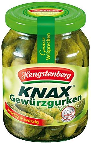 Hengstenberg Knax Gewürzgurken, knackig & würzig - 330gr - 6x