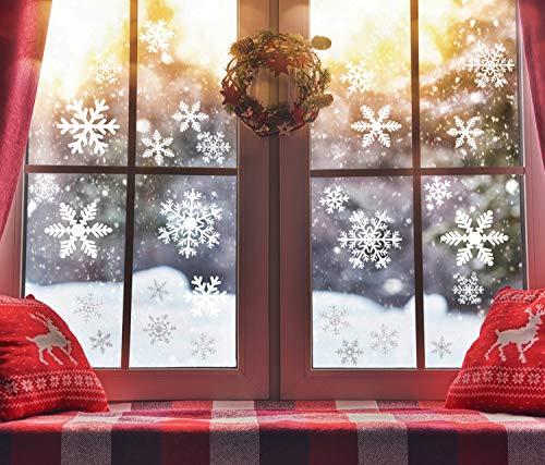 ZOYLINK 210 Piezas Pegatinas Copos de Nieve Decoracion Navidad Escaparates Vinilos Pegatinas Navidad Ventana Decoración
