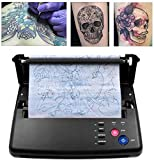 TTLIFE Tatuaggio Trasferimento Machine Stampante Tattoo Stencil Machine Per Tatuaggi Disegno Stampante Termica,Professionale Tattoo Transfer Copierwith,Regalo di Natale,500 Digital Patterns (Nero)
