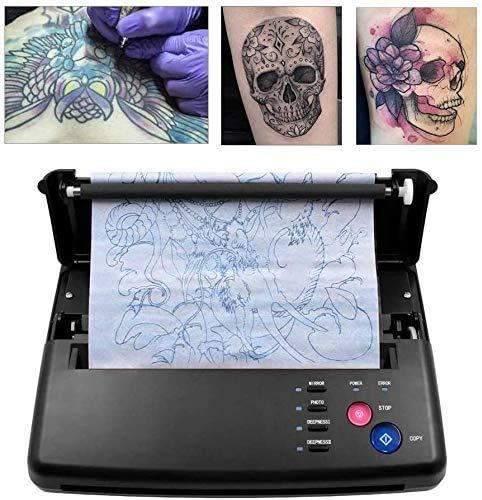 TTLIFE Tatuaggio Trasferimento Machine Stampante Tattoo Stencil Machine Per Tatuaggi Disegno Stampante Termica,Professionale Tattoo Transfer Copierwith,Regalo di Natale,500 Digital Patterns (Nero)