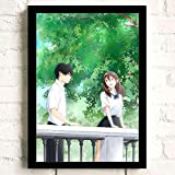 JIUJIUJIU Anime japonés Quiero comer tu páncreas carteles e impresiones artísticos de pared lienzo pintura para habitación de adolescentes decoración del hogar sin marco 50 * 70Cm