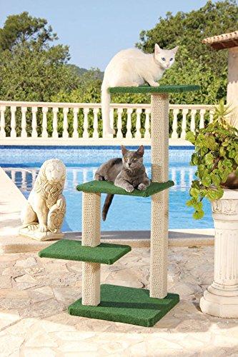 CLEVERCAT Outdoor Modell Formentera. Ideal für die überdachte Terasse oder Balkon. Outdoor Kratzen für Ihren Stubentiger. Made in Germany (7422)