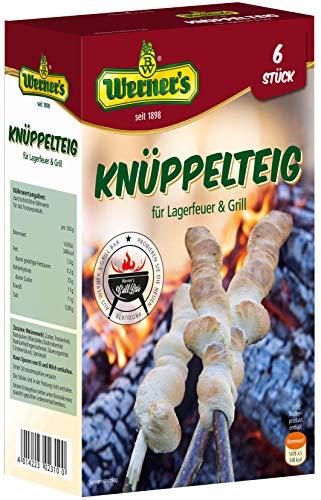 Werner´s Knüppelteig für Lagerfeuer & Grill, Backmischung für 4 - 6 Stück, zum backen über Lagerfeuer oder Grill, 6 Packungen pro Karton,