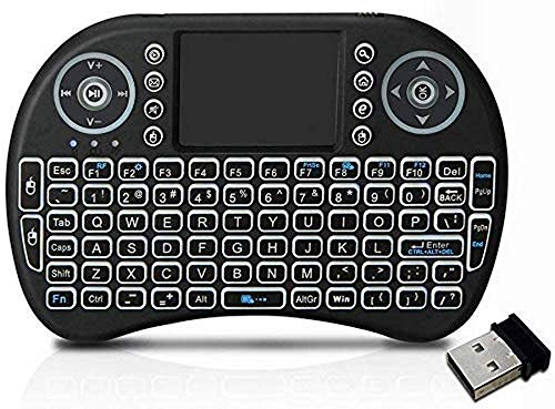 Conbre AirPAD i8 Mini Wireless Keyboard with Mousepad   Inbuilt Backlight   Supports All Smart TV, Android TV Box, Smart Phone, iOS and Raspberry-pi