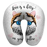 Almohada en Forma de U, Love Kitty Your Pillow Love Quote Pets Sobresaliente...