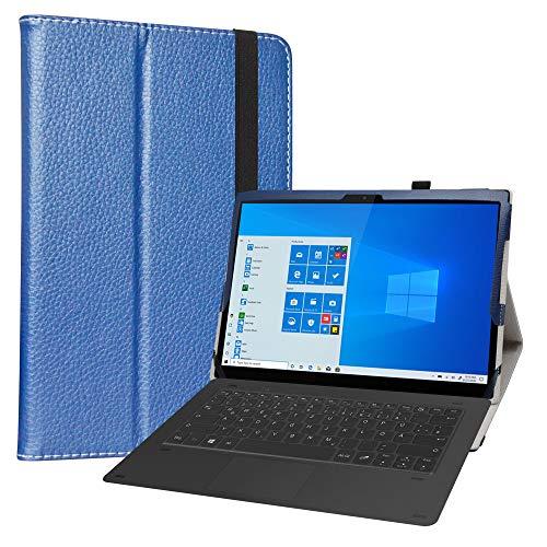 LiuShan Compatible con Lenovo Yoga Duet 7 Funda,Folio Soporte PU Cuero con Funda Caso para 13' Lenovo Yoga Duet 7 13IML05 Tablet(Not fit Lenovo Yoga Smart Tab YT-X705F),Azul