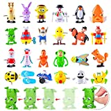 FUNNISM 24 Pack Mini Wind-up Toys Set, Assorted Style Bulk Wind Up Toys for Toddlers and Kids, School Exchange Gifts, Classroom Prizes, Goodie Bag Fillers, Birthday Party Gifts, Party Favors Supplies