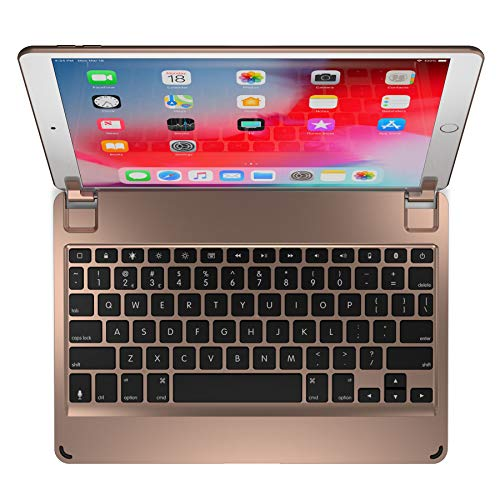 Brydge 10.5 Keyboard for The iPad Pro 10.5 inch, Aluminum Bluetooth 4.2 Keyboard with Backlit Keys (Gold)