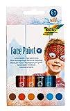 folia 380602 - Face Paint Schminkstifte Wild, 6 farbig sortierte Stifte für Kinder, dermatologisch...