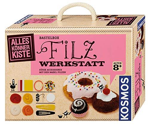 Kosmos 604172 AllesKönnerKiste Filz-Werkstatt für Anfänger – DIY-Bastelset für kreative Mädchen und Jungen ab 8 Jahren – das ideale Geschenk für den Kindergeburtstag