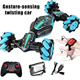 Alexsix Remote Control Stunt Car, Christmas 2.4G 4WD Stunt RC Car Gesture Sensing Twisting Vehicle Drift Car Driving Toy Gifts, for 3 4 5 6 7 8-12 Year Old Boy Toys