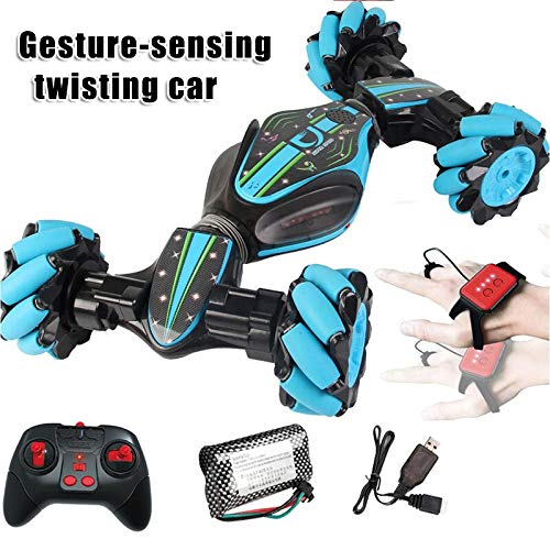 Ohwens RC Car, Remote Control Car, Halloween Christmas Stunt RC Car Gesture Sensing Twisting Vehicle Drift Car with Four-Wheel Drive Off-Road, Sports Status Kids Toy Cars Birthday Gift