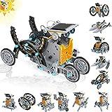 CIRO 190 Pièces - Kit De Construction Robots solaires 12 en 1, STEM Robot Kit - Jouet Robot Solaire pour Les Enfants Education de Energie et Scientifiques, Un Cadeaux pour Votre garçons et Filles