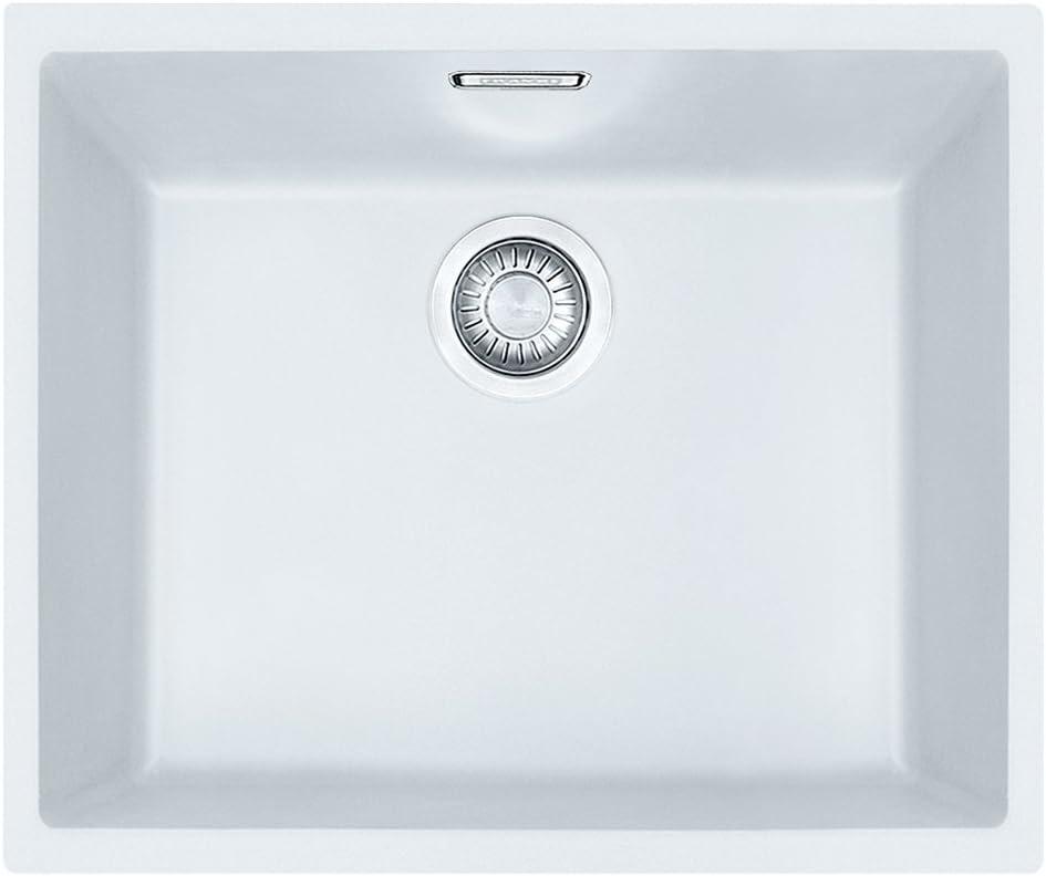 Franke Tectonita 110-50 125.0331.033 Sirius - Fregadero empotrado, color blanco y cromado