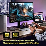 1080P 4K HDMI Video Capture Device With Loop Out Video Capture Card, 60FPS HDMI Game Capture HDMI To USB 2.0 For Game Record Live Streaming Broadcast