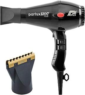 Parlux 3200 Plus Black Hair Dryer and M Hair Designs Hot Blow Attachment Gold (Bundle - 2 items)