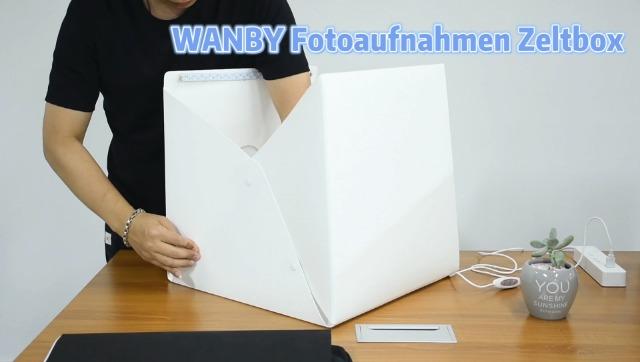 Wanby Foto Studio Zelt Mini Faltbares Fotostudio Kamera