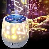 Lampada Proiettore Stelle,Luci Luna notturne per bambini con 360 Rotating Night, 6 Combina...