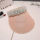 PKYGXZ Verano Nuevo Sombrero de Perlas Sombrero de Sol Femen