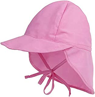BOTINDO Kids Sun Protection Hat with Wide Brim,Chin Strap & Neck Flap