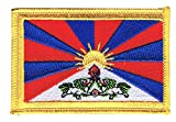 Flaggenfritze Flaggen Aufnäher Tibet Fahne Patch + gratis