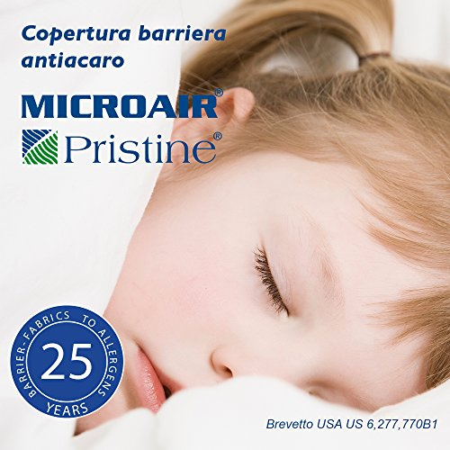 Alpretec Microair Pristine Zero Copricuscino Barriera Antiacaro Standard cm 50x80