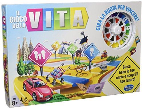 Hasbro Gaming–Das Spiel des Lebens (spanische Version), Brettspiel Italienische Version