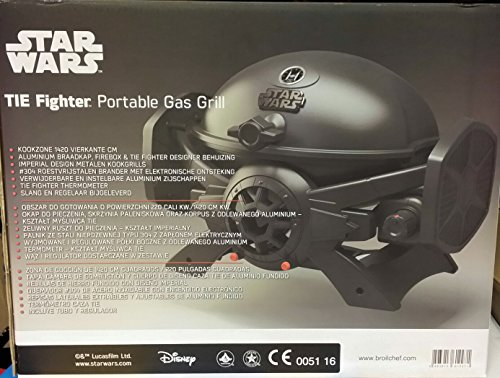 Star Wars Tie Fighter SW-2201 Portable LP Gas Grill Aluminum Black Tisch Grill IO