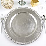 Efavormart 13' Round Silver Crystal Beaded...