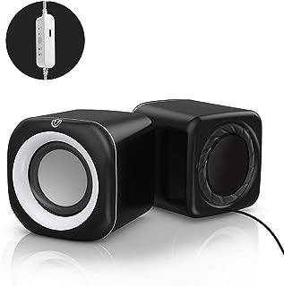 MINGTAI Laptop Audio Home Desktop Desktop Wiring Multi-speaker Active Small Speaker Mobile Phone Usb Mini Multimedia Small Speaker Heavy Subwoofer Universal (Color : Black, Style : Standard model)