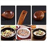 Chenny Suppenlöffel natürlicher japanischer Holz Suppe Brei Ramen Reis Langer Griff Löffel Besteck geeignet für Familienrestaurant (S) - 7
