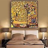HHLSS Impresiones para Paredes 80x80 cm sin Marco Realización de Carteles artísticos e Impresiones de Gustav Klimt Imagen de Pared escandinava para Fondo de cabecera