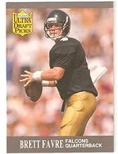 1991 Fleer Ultra #283 - Brett Favre (RC) Green Bay Packers - Football Rookie Card - Draft Pick NFL Football Trading Card
